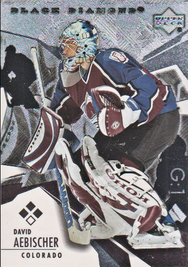 2003-04 Black Diamond #145 David Aebischer