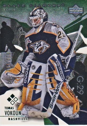 2003-04 Black Diamond Green #116 Tomas Vokoun