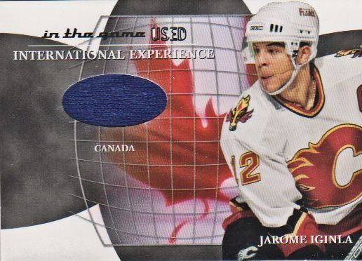 2003-04 ITG Used Signature Series International Experience Jerseys #6 Jarome Iginla