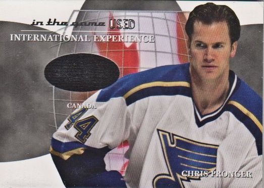 2003-04 ITG Used Signature Series International Experience Jerseys #13 Chris Pronger