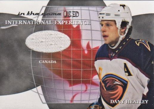 2003-04 ITG Used Signature Series International Experience Jerseys #14 Dany Heatley