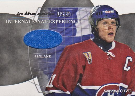 2003-04 ITG Used Signature Series International Experience Jerseys #17 Saku Koivu