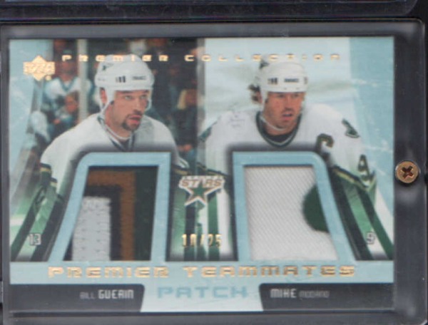 2003-04 UD Premier Collection Teammates Patches #PTDS2 Bill Guerin/Mike Modano