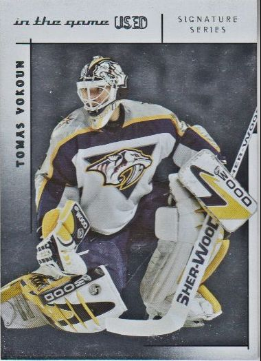 2003-04 ITG Used Signature Series #2 Tomas Vokoun