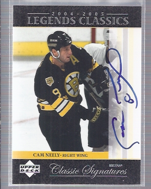 2004-05 UD Legends Classics Signatures #CS27 Cam Neely SP