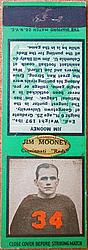 1934 Diamond Matchbooks #79 Jim Mooney B/G/R/T