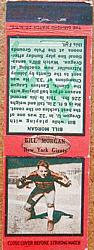 1934 Diamond Matchbooks #81 Bill Morgan G/R/T