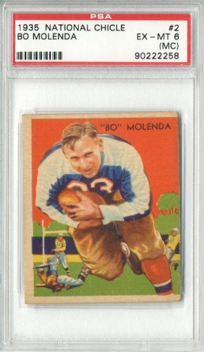 1935 National Chicle #2 Bo Molenda RC