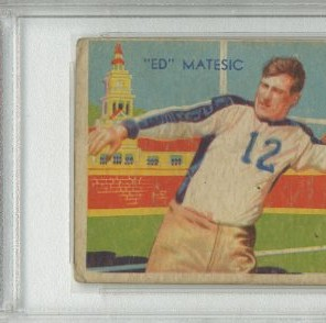 1935 National Chicle #4 Ed Matesic RC