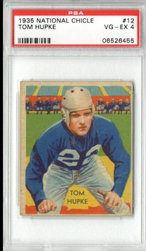 1935 National Chicle #12 Tom Hupke RC