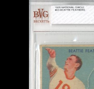 1935 National Chicle #23 Beattie Feathers RC