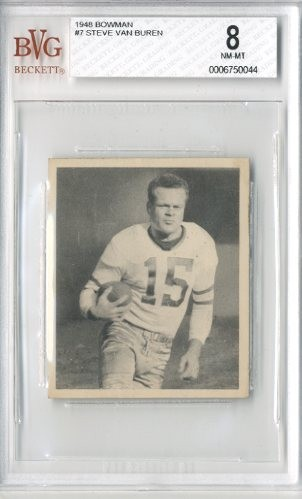 1948 Bowman #7 Steve Van Buren RC