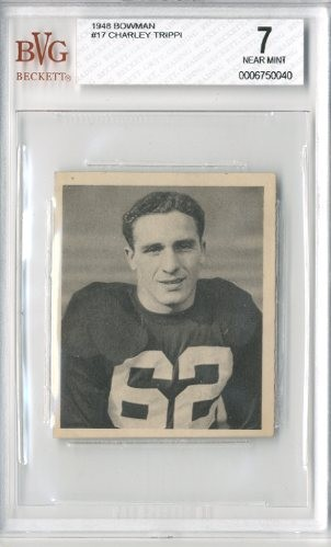 1948 Bowman #17 Charley Trippi RC