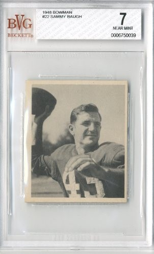 1948 Bowman #22 Sammy Baugh RC