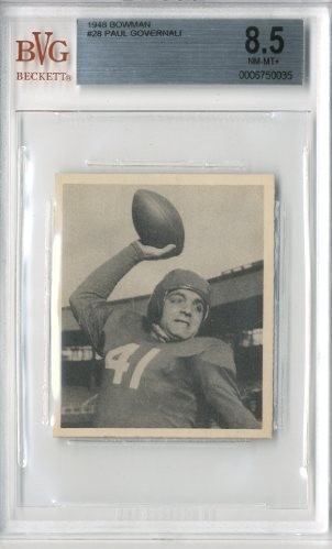 1948 Bowman #28 Paul Governali RC