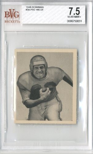 1948 Bowman #38 Pat West RC