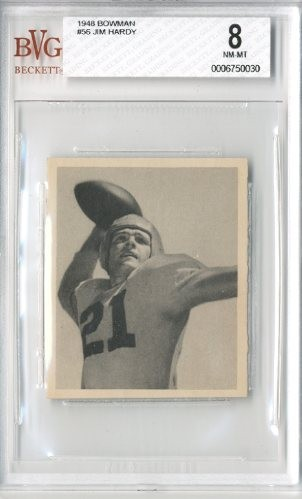 1948 Bowman #56 Jim Hardy RC