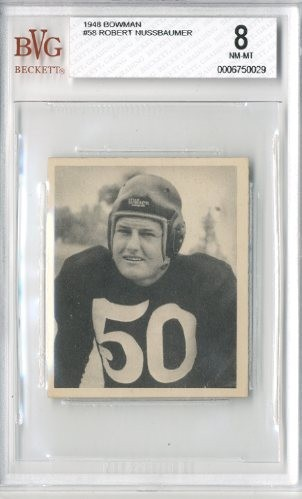1948 Bowman #58 Robert Nussbaumer RC