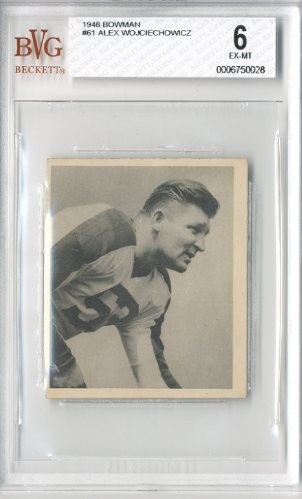 1948 Bowman #61 Alex Wojciechowicz RC