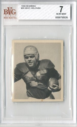 1948 Bowman #65 Mike Holovak RC
