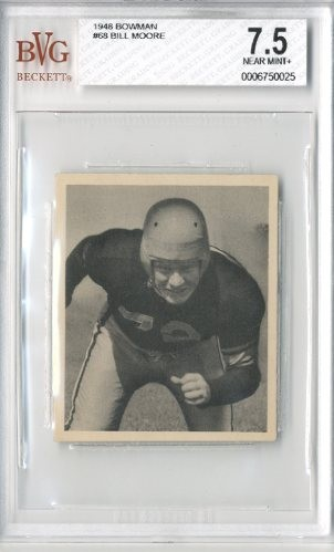 1948 Bowman #68 Bill Moore RC