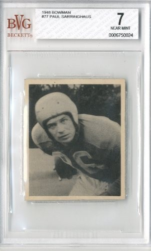 1948 Bowman #77 Paul Sarringhaus RC