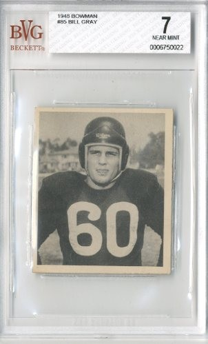 1948 Bowman #85 Bill Gray RC