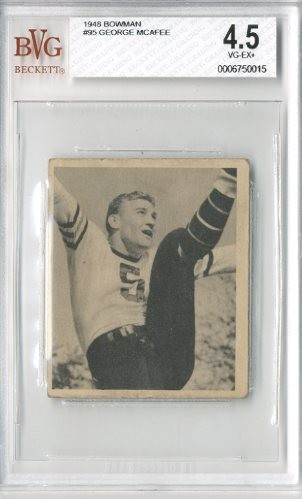 1948 Bowman #95 George McAfee RC