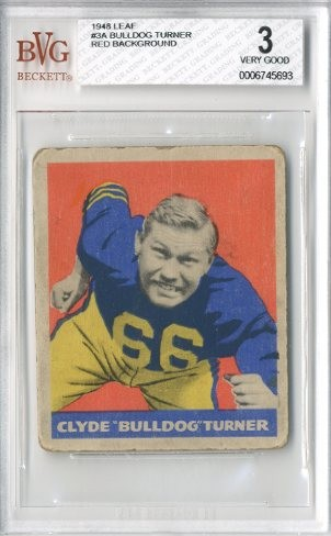 1948 Leaf #3A Bulldog Turner RB RC/(Red background)
