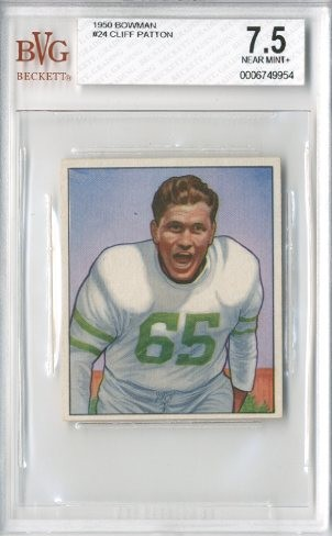 1950 Bowman #24 Cliff Patton RC