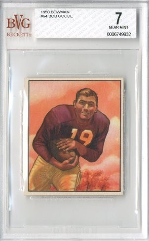 1950 Bowman #64 Bob Goode RC