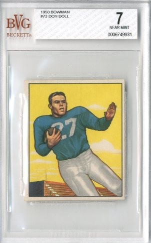 1950 Bowman #73 Don Doll RC RC