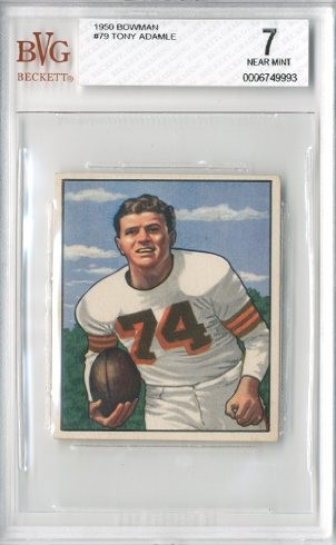 1950 Bowman #79 Tony Adamle RC