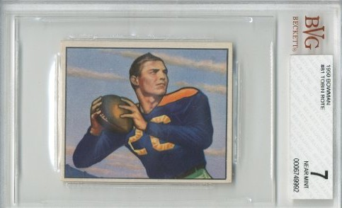 1950 Bowman #81 Tobin Rote RC