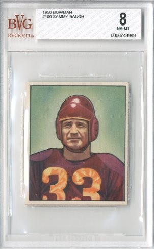 1950 Bowman #100 Sammy Baugh
