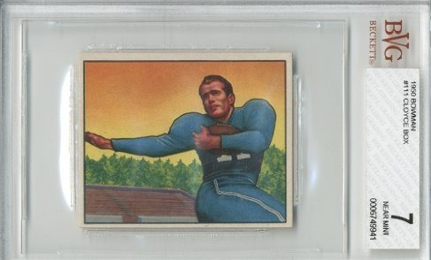 1950 Bowman #111 Cloyce Box RC