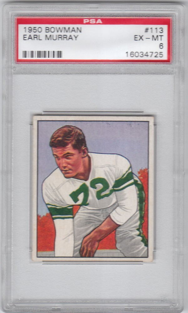 1950 Bowman #113 Earl Murray RC