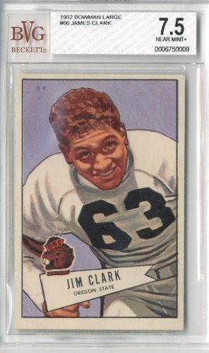 1952 Bowman Large #66 James Clark RC