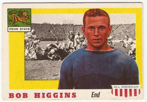 1955 Topps All American #33 Bob Higgins RC