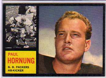 1962 Topps #64 Paul Hornung SP