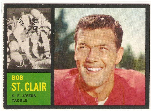 1962 Topps #157 Bob St.Clair