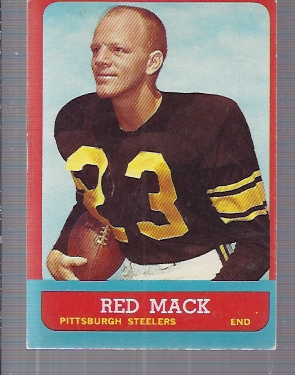 1963 Topps #125 Bill Red Mack SP RC