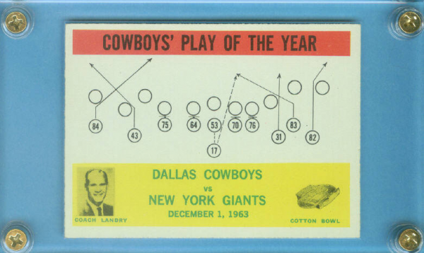 1964 Philadelphia #56 Cowboys Play/T.Landry