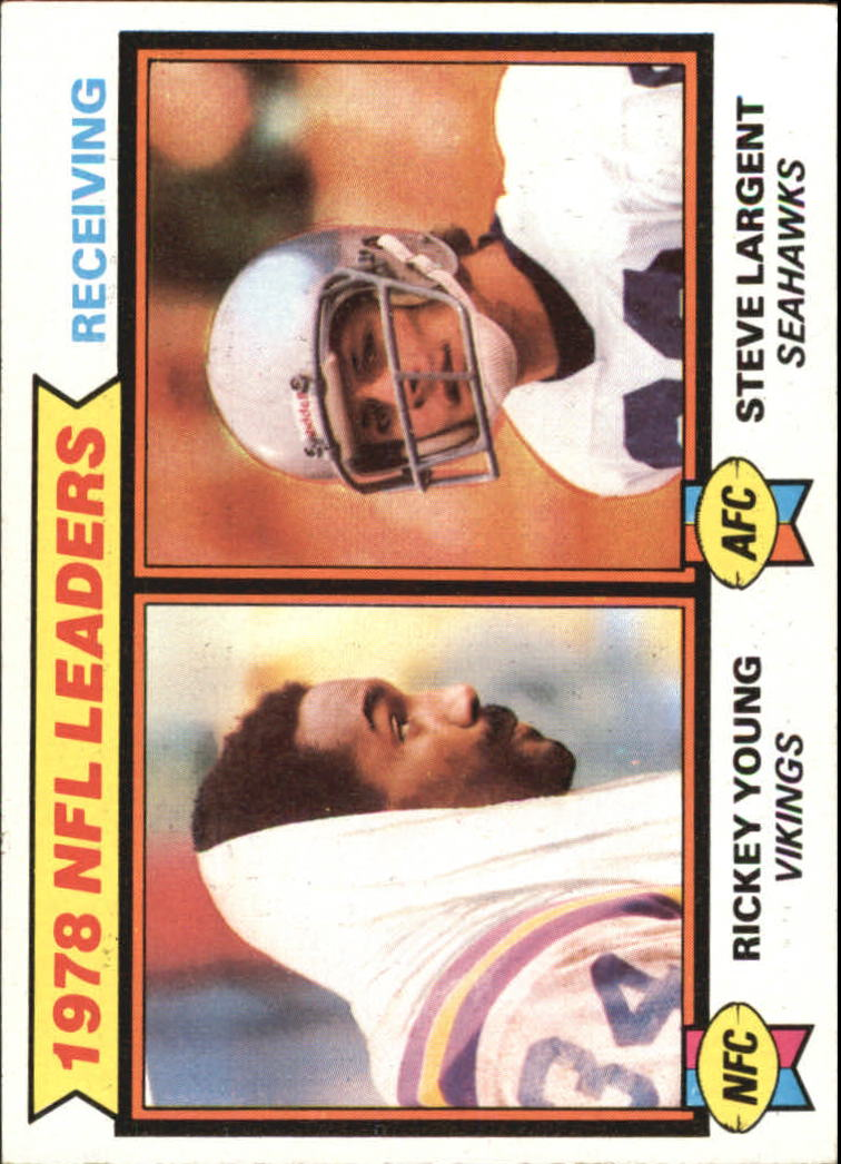 1979 Topps #2 Receiving Leaders/Rickey Young/Steve Largent