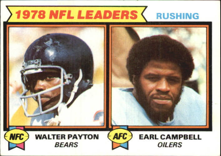 1979 Topps #3 Rushing Leaders/Earl Campbell/Walter Payton