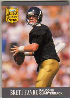 1991 Ultra #283 Brett Favre RC