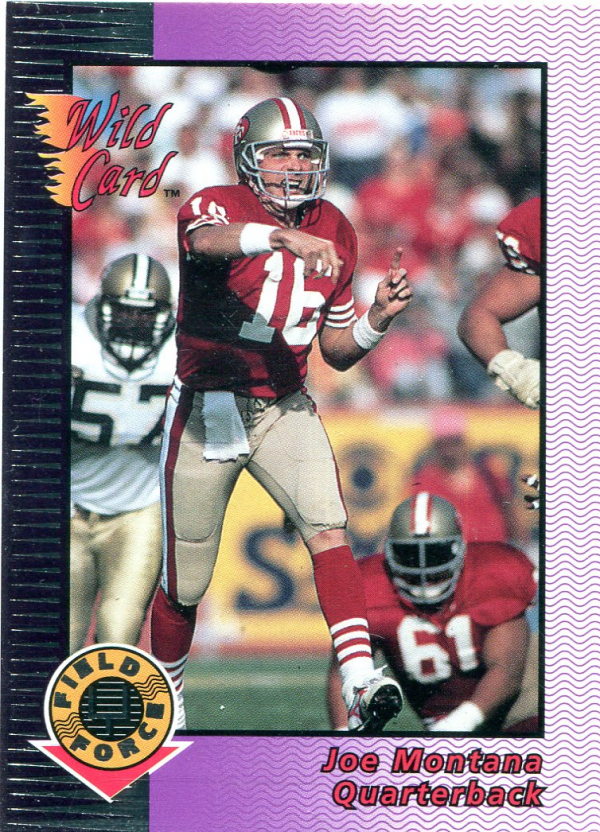 1992 Wild Card Field Force Silver #1 Joe Montana