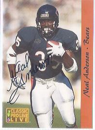 1993 Pro Line Live Autographs #2 Neal Anderson/1050