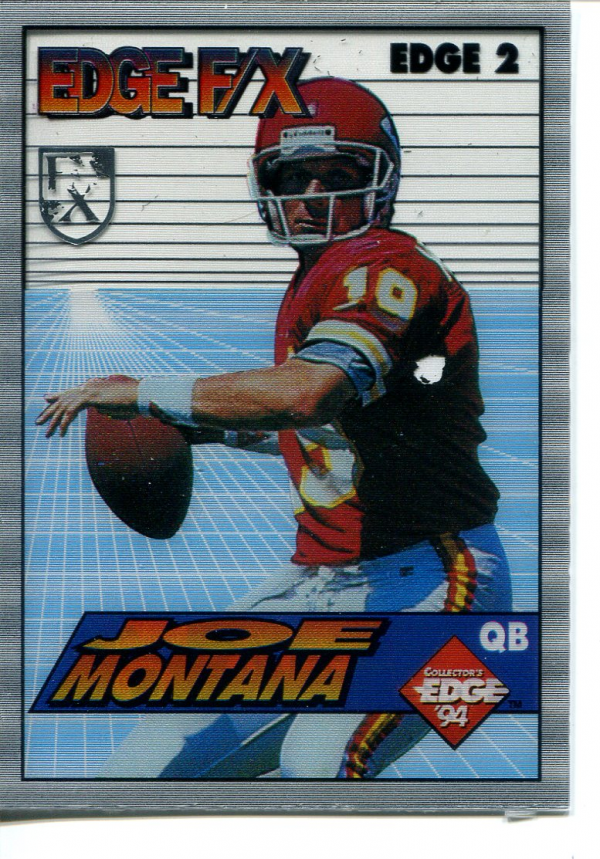 1994 Collector's Edge FX Silver Shield #2 Joe Montana