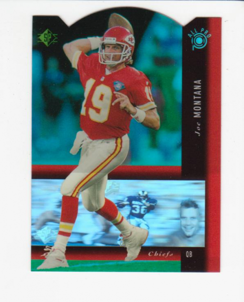 1994 SP Holoviews Die Cuts #PB17 Joe Montana